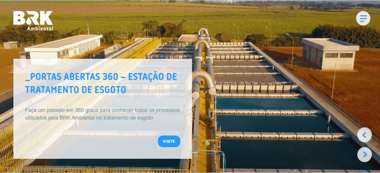 BRK Ambiental disponibiliza tour virtual por Estação de Tratamento de Esgoto